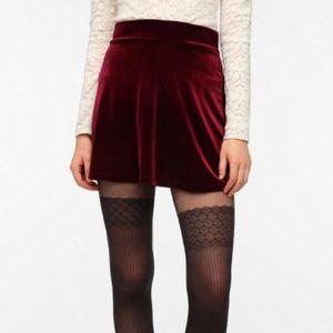Pins and Needles Velvet Skirt Sz M